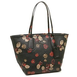 4da6e9f42073 コーチ COACH 33964 タクシー ジップ トップ トート フローラル プリント クロスグレイン レザーCOACH TAXI ZIP TOP  TOTE FLORAL PRINT LEATHER 33964 BLACK SHOULDER ...